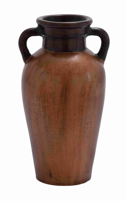 Terracotta Vase with Tones and Striking Design in Rustic Red Brand Woodland