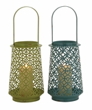 The Adorable Metal Lantern 2 Assorted by Woodland Import