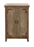 The Aged Wood Almirah Cabinet by Woodland Import