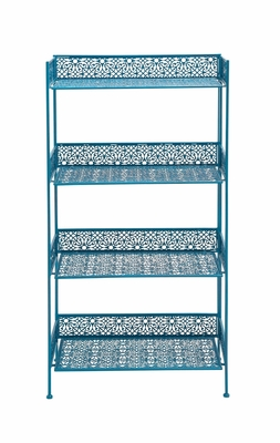 The Amazing Metal Baker Rack Blue by Woodland Import