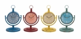 The Amazing Metal Desk Clock 4 Assorted by Woodland Import