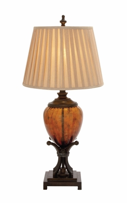 The Amazing Polystone Glass Table Lamp by Woodland Import