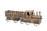 The Amazing Wood Train Planter by Woodland Import
