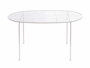 The Angelic Metal White Tea Table by Woodland Import