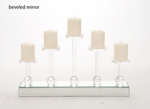 The Astutely Beautiful Wood Mirror Candle Holder by Woodland Import