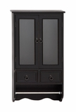 The Attractive Wood Glass Wall Cabinet by Woodland Import