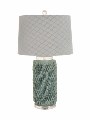 The Beautiful Ceramic Acrylic Table Lamp by Woodland Import
