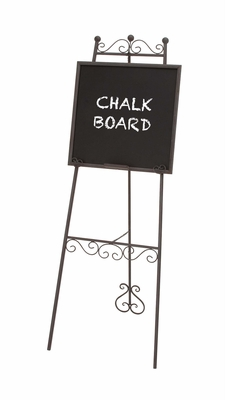 The Beautiful Metal Chalk Board Easel by Woodland Import