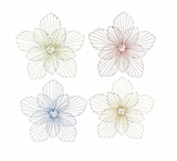 The Beautiful Set of 4 Metal Wall Decor by Woodland Import