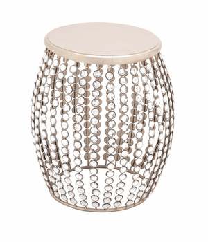 The Beautiful Wood Metal Acrylic Stool by Woodland Import