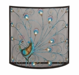 The Bird Metal Fireplace Screen by Woodland Import