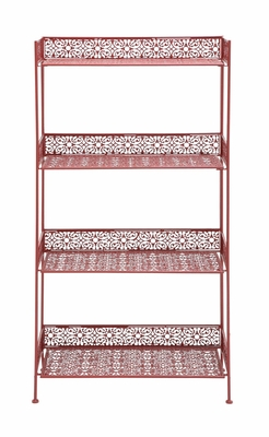 The Bright Metal Bakers Rack Red by Woodland Import
