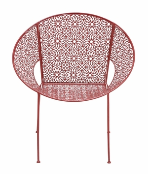 The Bright Metal Red Chair by Woodland Import
