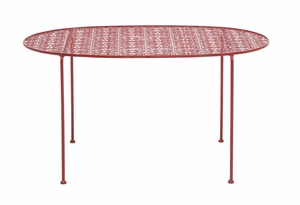 The Bright Metal Red Tea Table by Woodland Import
