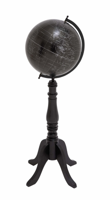 The Brooding Wood Metal Floor Globe by Woodland Import
