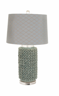 The Charming Ceramic Acrylic Table Lamp by Woodland Import