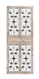 The Charming Wood Metal Wall Panel by Woodland Import