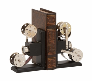The Cinema Wood Metal Book End Pr by Woodland Import