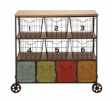The Colorful Metal Storage Cart by Woodland Import