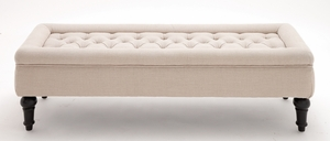 The Comfortable Wood Fabric Bench by Woodland Import