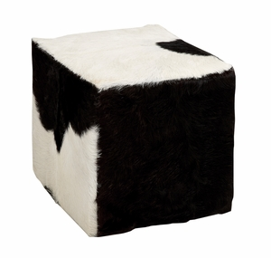The Comfortable Wood Square Goat Stool by Woodland Import