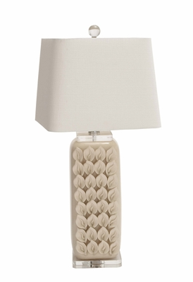 The Cool Ceramic Acrylic Table Lamp by Woodland Import