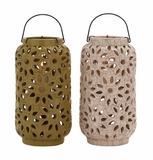 The Cool Ceramic Lantern 2 Assorted by Woodland Import