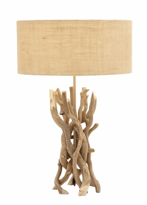 The Cool Driftwood Metal Table Lamp by Woodland Import