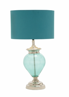 The Cool Glass Chrome Table Lamp by Woodland Import