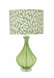 The Cool Green Glass Acrylic Table Lamp by Woodland Import