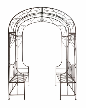 The Cool Metal Arch with Bench by Woodland Import
