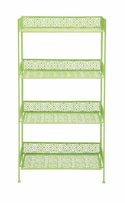 The Cool Metal Baker Rack Green by Woodland Import