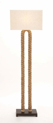 The Cool Metal Rope Pier Floor Lamp by Woodland Import