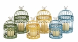 The Cool Set of 2 Metal Lantern 3 Assorted by Woodland Import