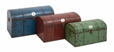 The Cool Set of 3 Metal Trunks by Woodland Import