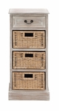 The Cool Wood 3 Basket Chest by Woodland Import
