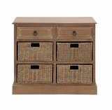 The Cool Wood 4 Basket Chest by Woodland Import