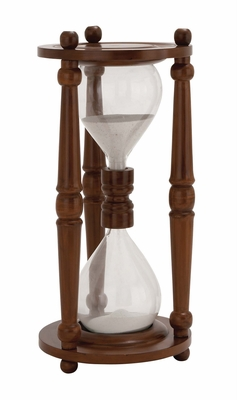 The Cool Wood Glass Sand Timer by Woodland Import