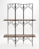 The Cool Wood Metal Screen Shelf by Woodland Import