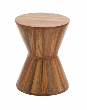 The Cool Wood Plank Stool by Woodland Import