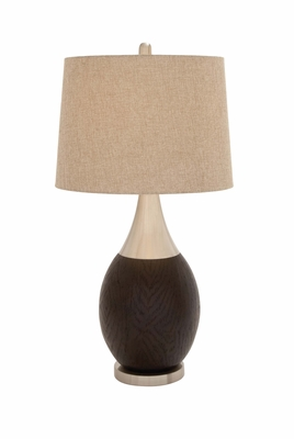 The Curvaceous Polystone Metal Table Lamp - 97368 by Benzara
