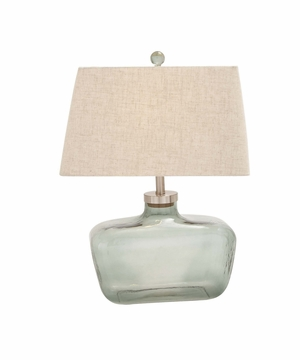 The Cute Glass Metal Table Lamp by Woodland Import