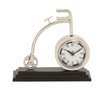 The Cute Metal Cycle Table Clock by Woodland Import