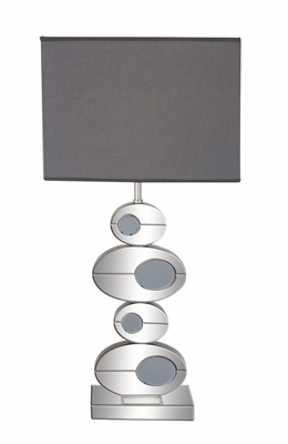 The Cute Wood Mirror Table Lamp by Woodland Import