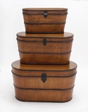 The Cutest Set of 3 Wood Trunk by Woodland Import
