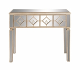 The Dashing Wood Mirror Console Table by Woodland Import