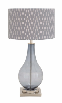 The Delicate Glass Metal Table Lamp by Woodland Import