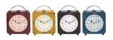 The Delightful Metal Desk Clock 4 Assorted by Woodland Import