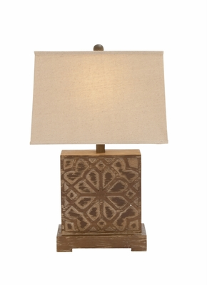 The Delightful Wood Table Lamp by Woodland Import