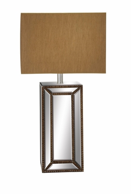The Distinctive Wood Mirror Table Lamp by  Import - 87233 by Benzara
